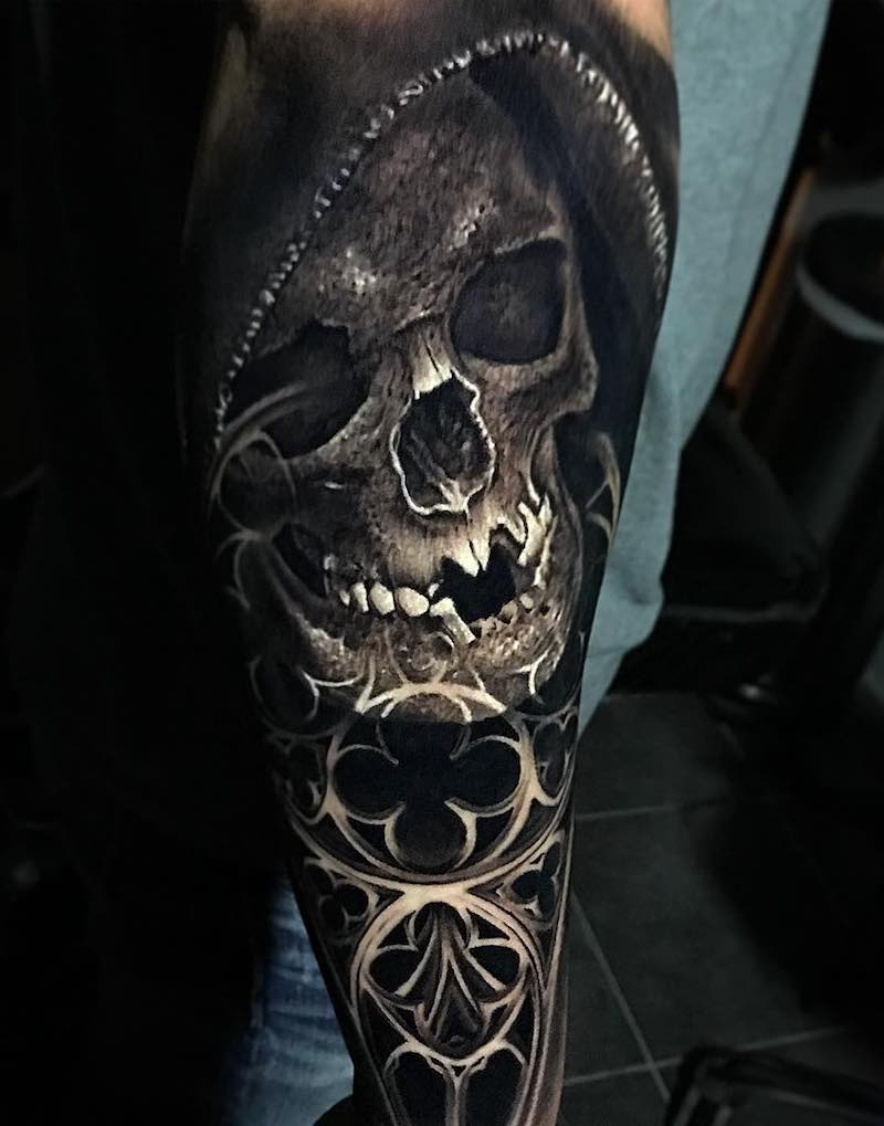Skull Tattoo by Jacob Sheffield