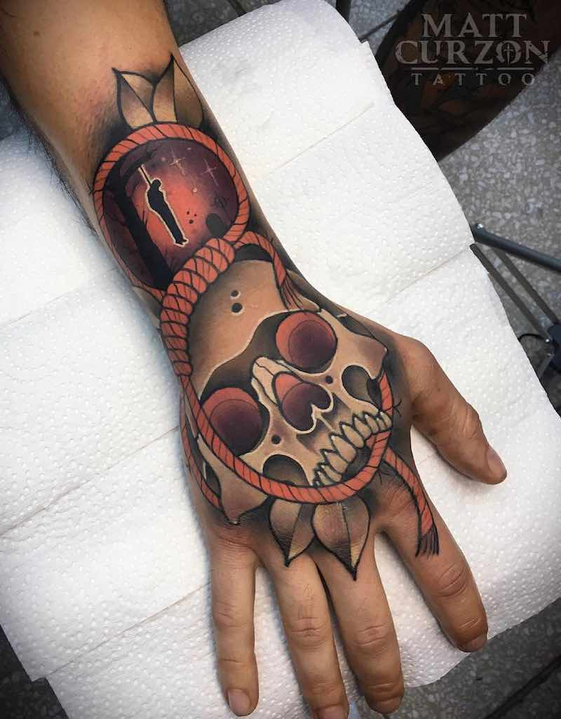 Skull Tattoo by Matt Curzon