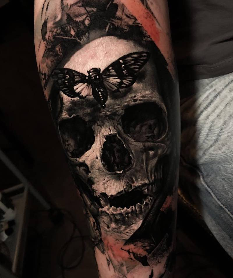 Skull Tattoo by Noire Ink