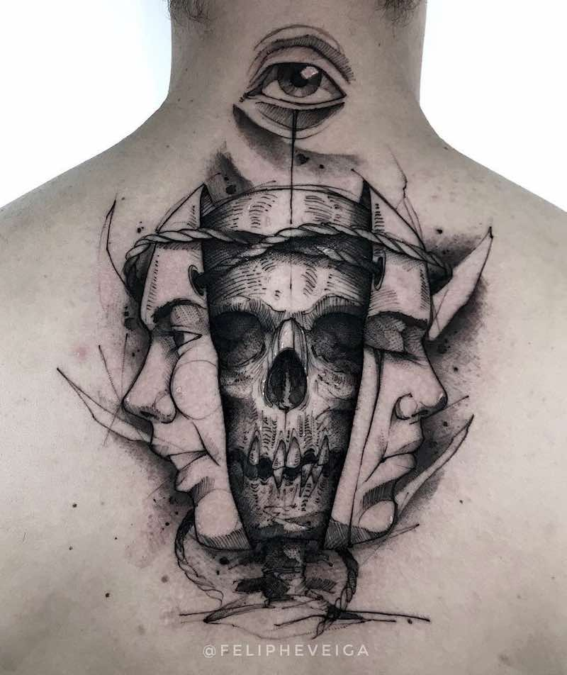 Skull Tattoos by Feliphe Veiga