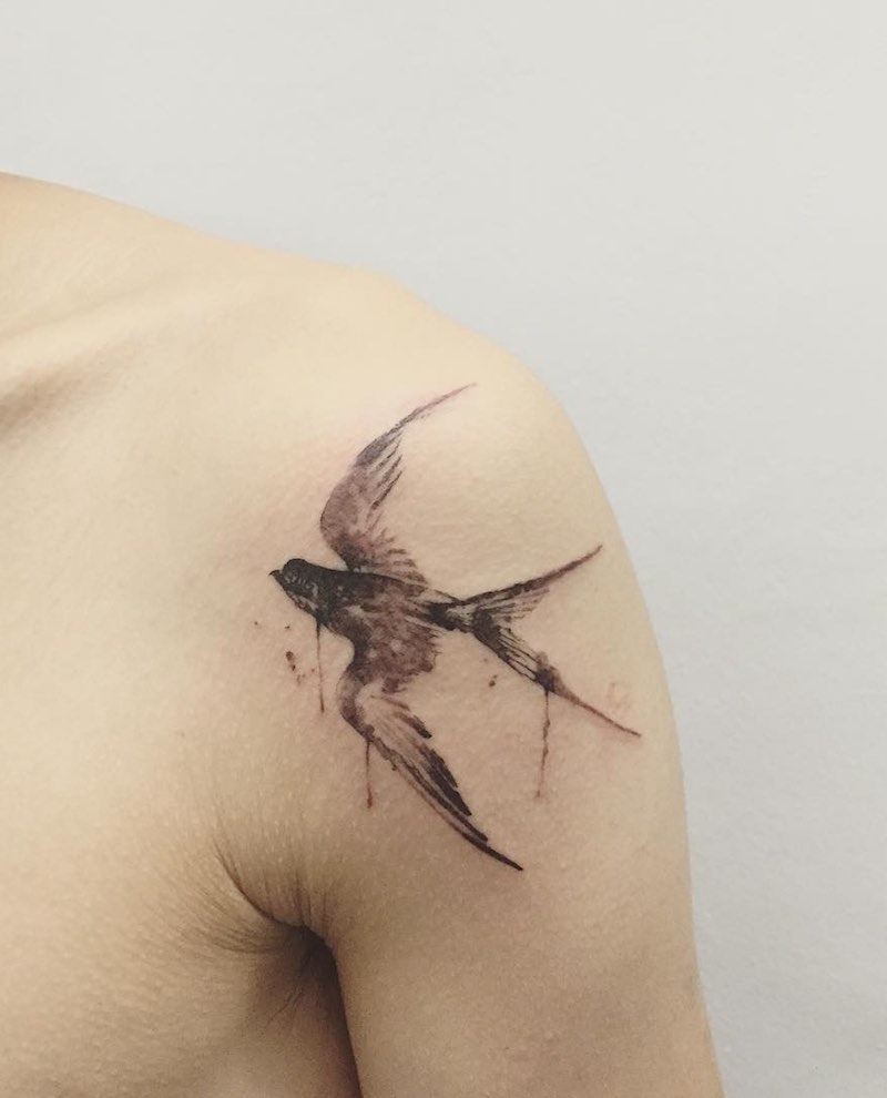 Swallow Tattoo by Hongdam