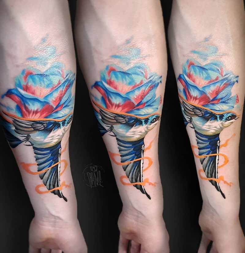 Swallow Tattoo by Ilya Frame