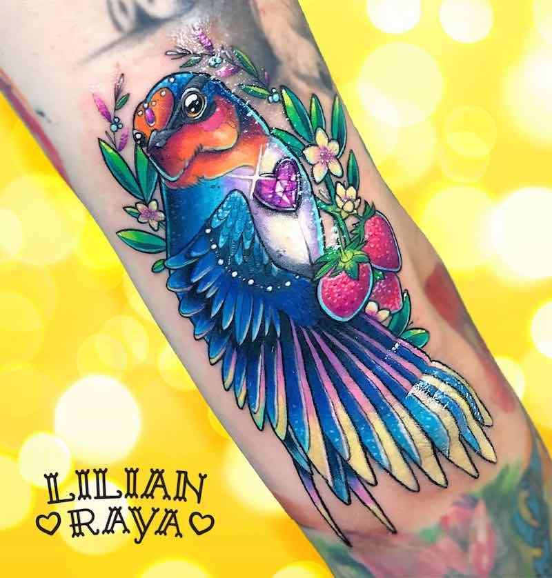 Swallow Tattoo by Lilian Raya