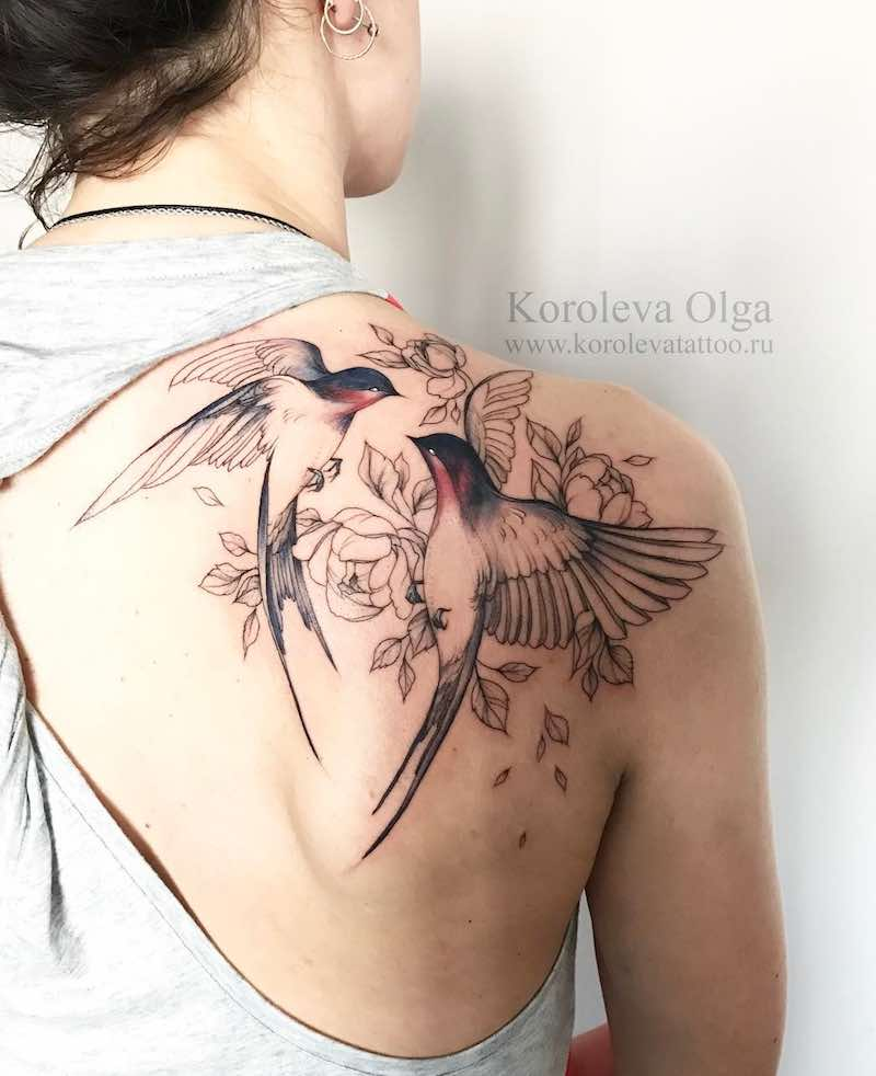 Swallow Tattoo by Olga Koroleva