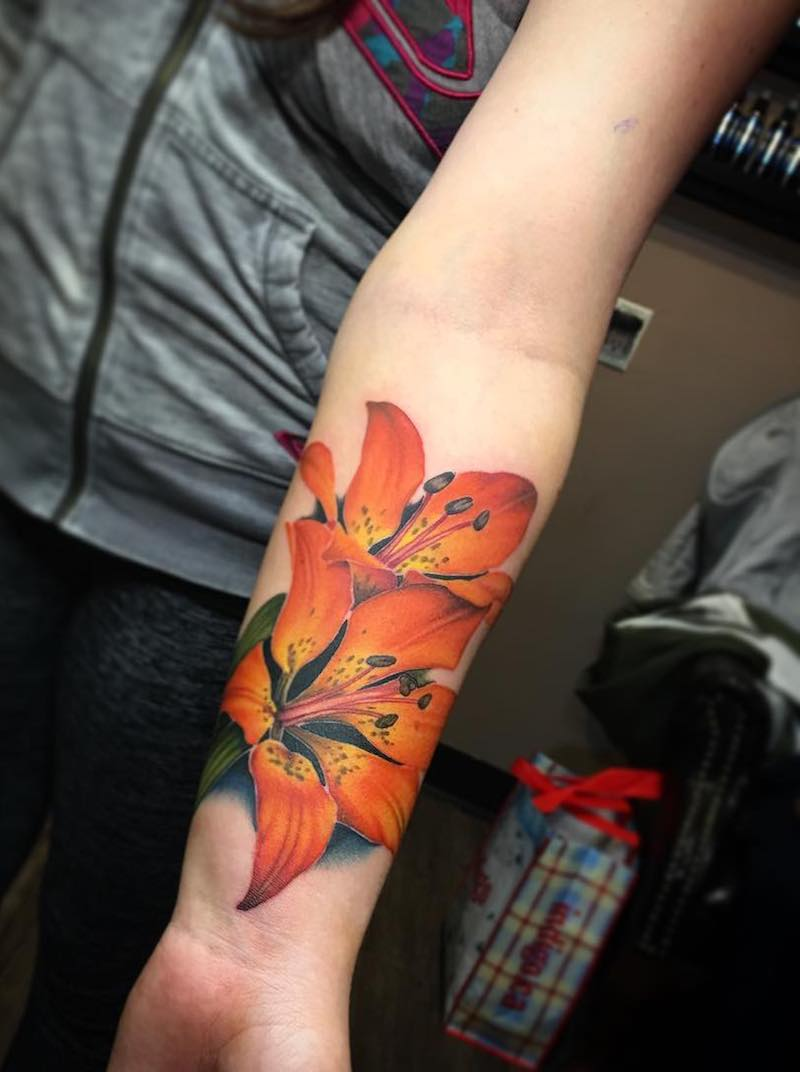 Tiger Lily Tattoo by Liz Venom