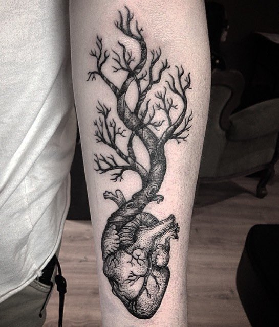Tree Tattoo by Annita Maslov