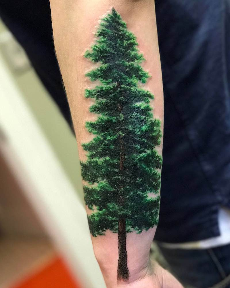 Tree Tattoo by Bleach