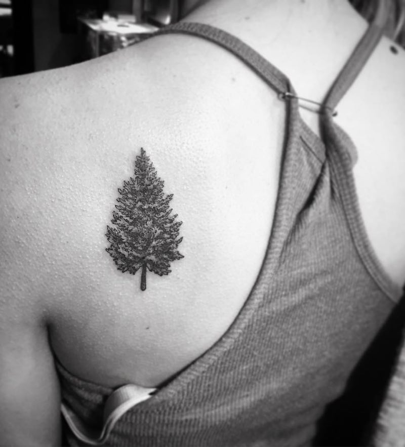 Tree Tattoo by Jessie Violet
