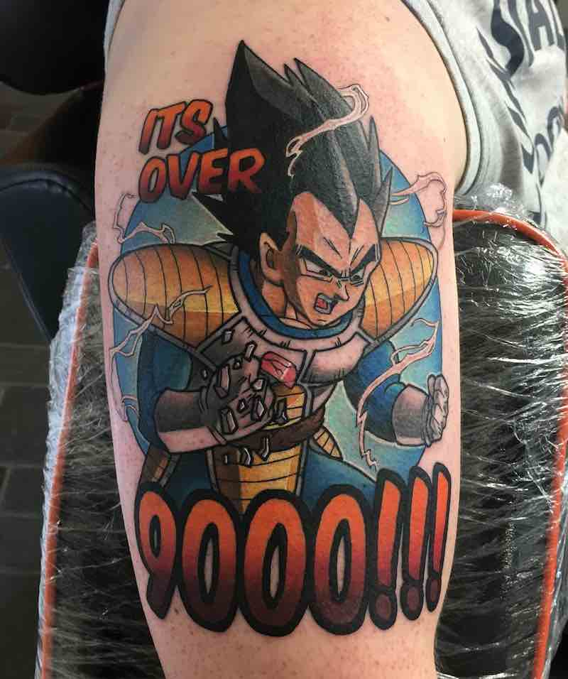 Vegeta Tattoo by Ashley Newton-