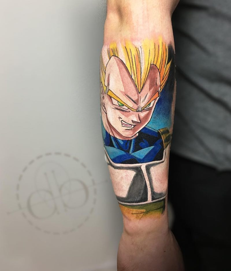 Vegeta Tattoo by David Barrera
