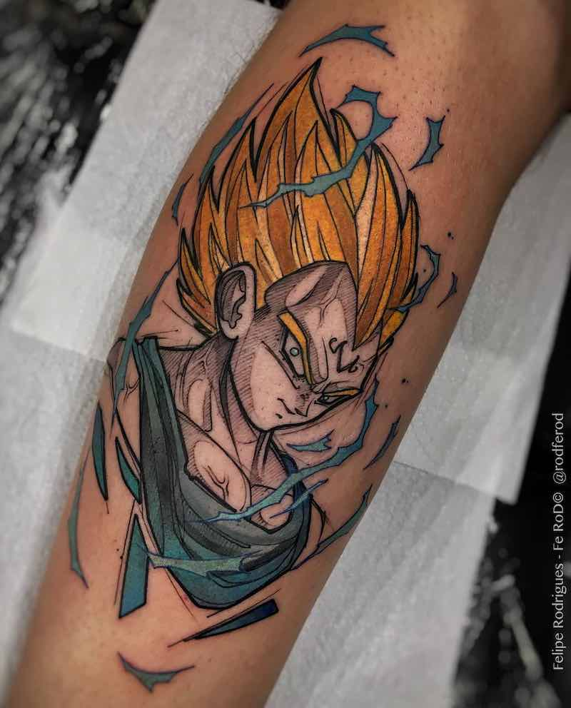 Vegeta Tattoo by Felipe Rodrigues