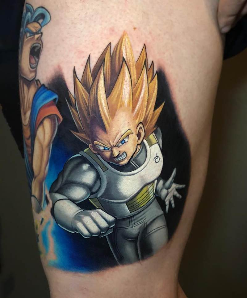 Vegeta Tattoo by Kegan Hawkins