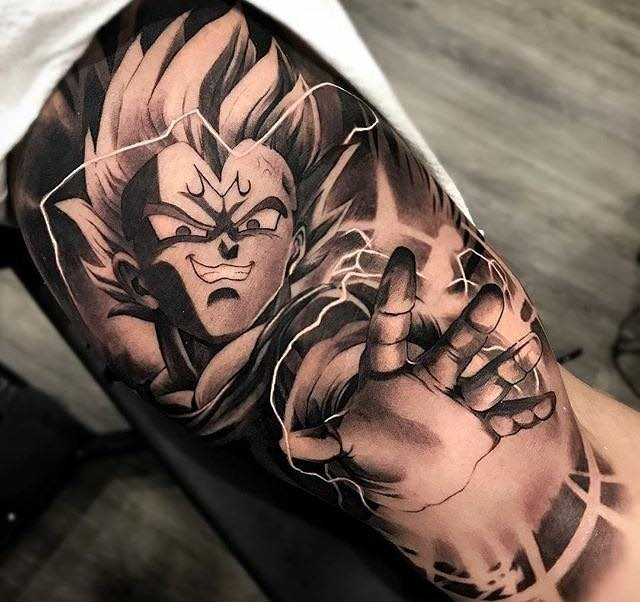 Vegeta Tattoo by Matias Noble