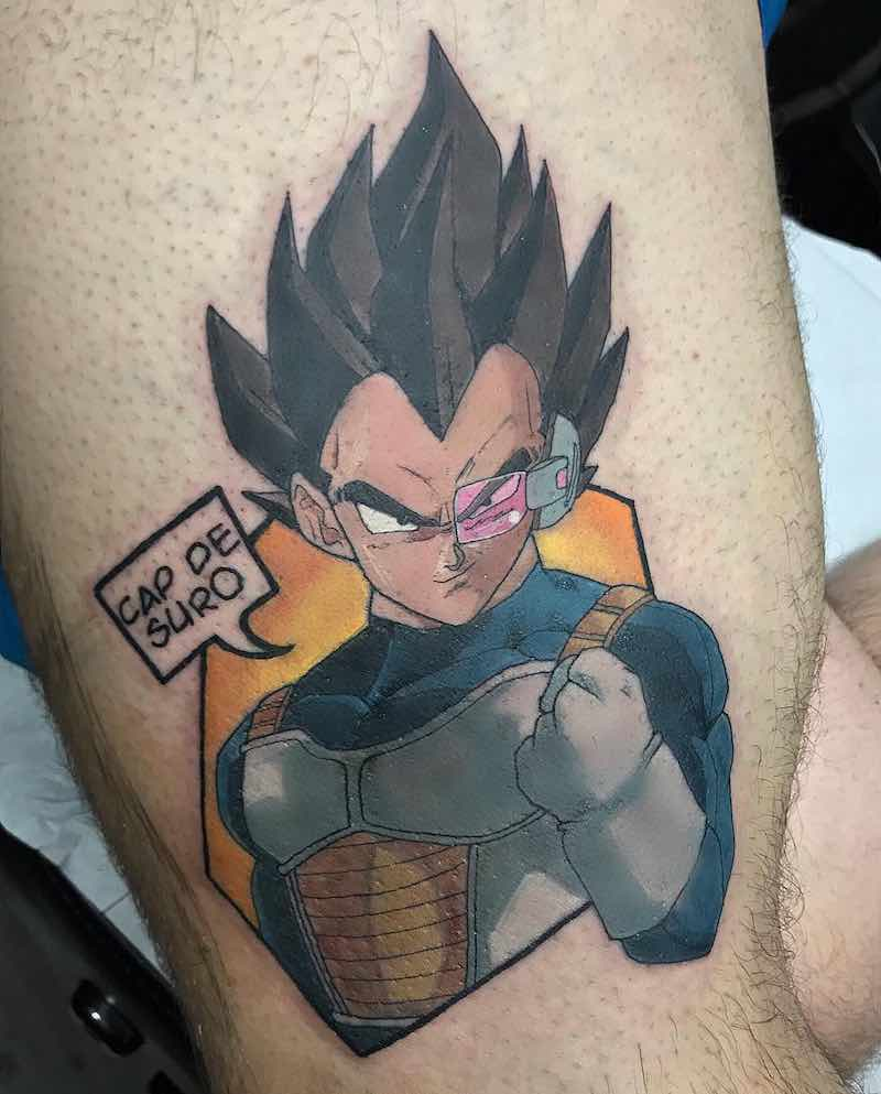 Vegeta Tattoo by Raquel Escudero