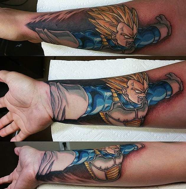 Vegeta Tattoo by Saraloni Troupe