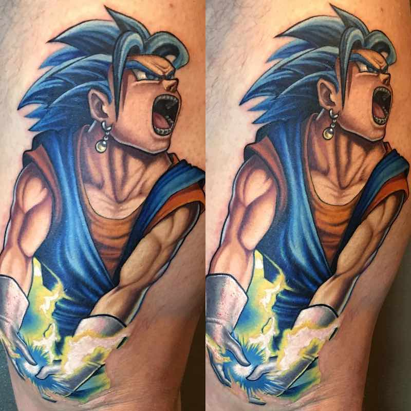 Vegeto Tattoo by Kegan Hawkins