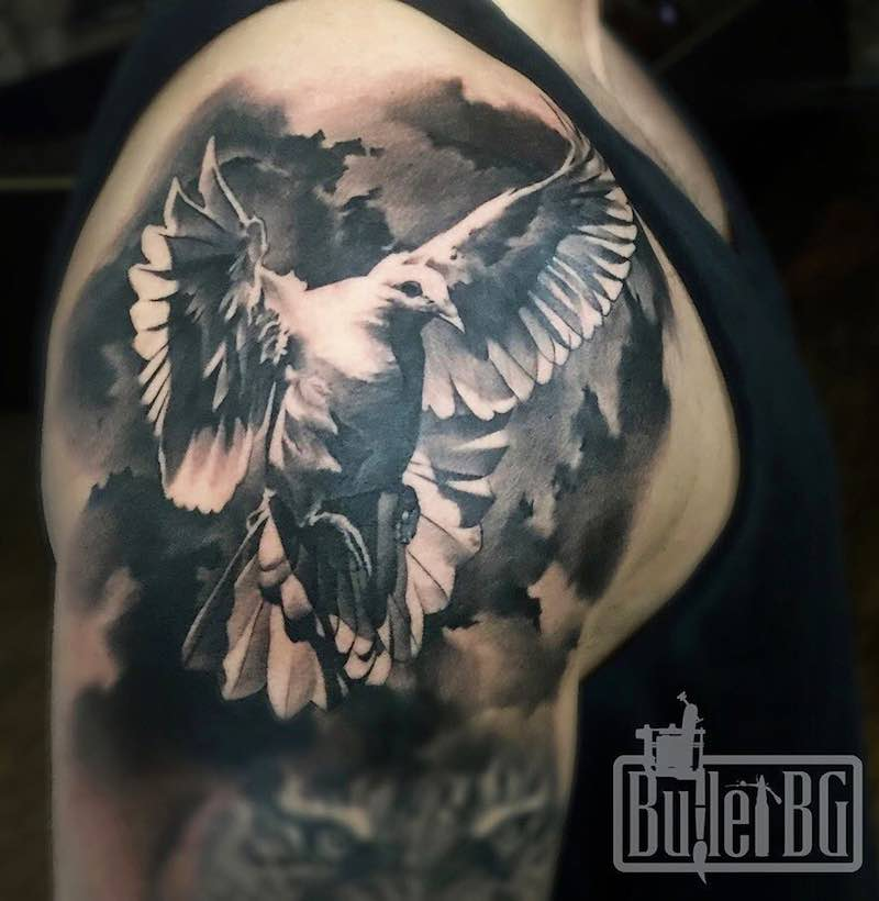 Dove Tattoo by Bullet BG