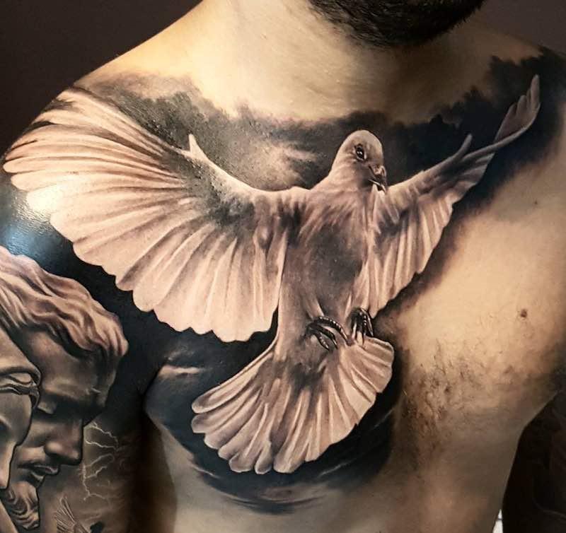 Dove Tattoo by Fabricio Victor