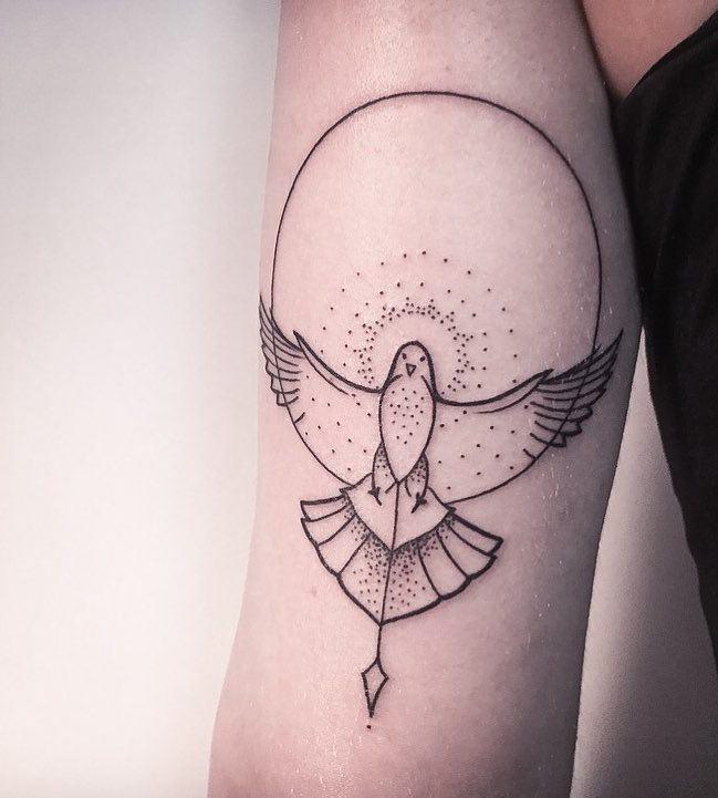 Dove Tattoo by Melina Wendlandt
