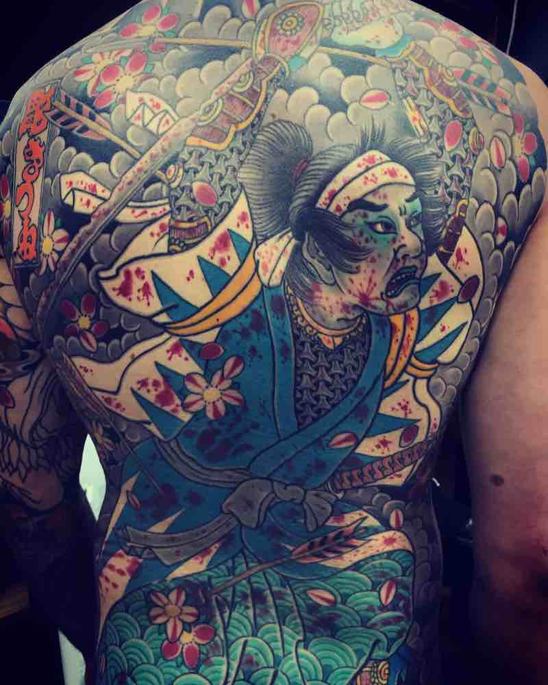 Back Japanese Tattoo by Holy Fox