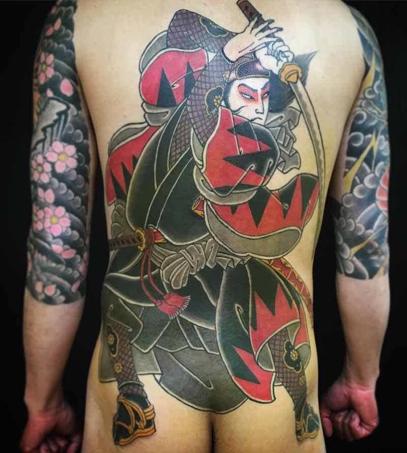 Back Japanese Tattoo by Horitsubaki