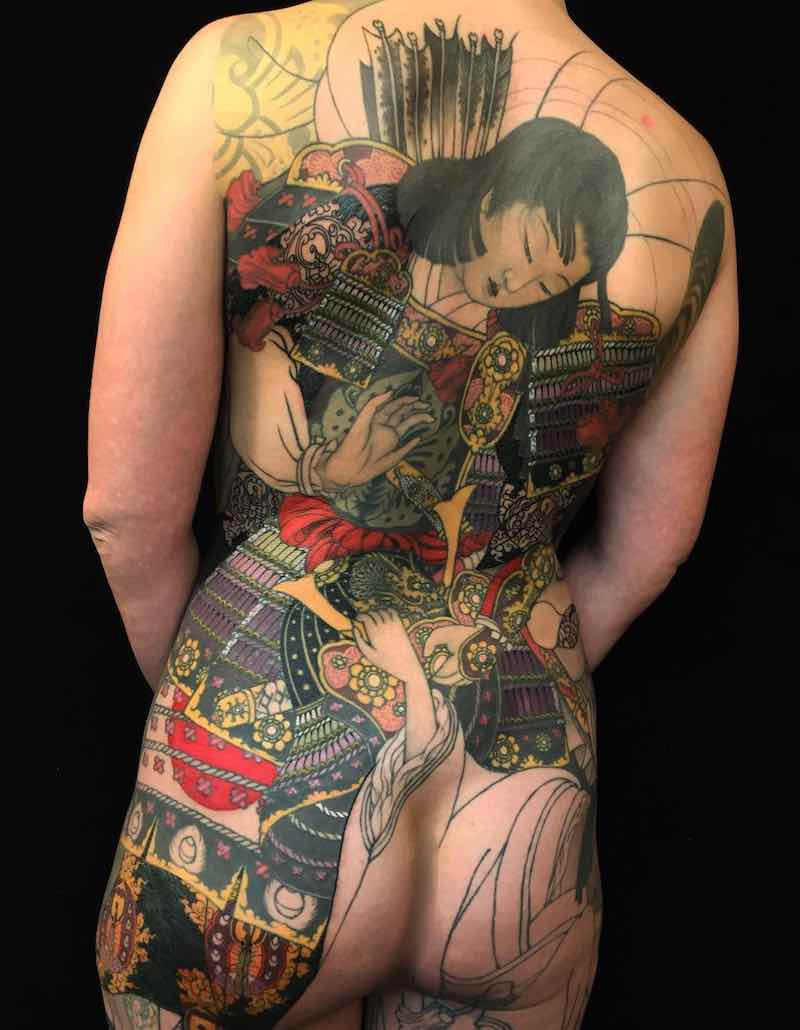 Back Japanese Tattoo by Shige