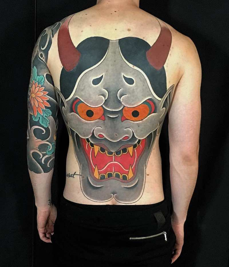 Back Oni Japanese Tattoo by Hugo HAB