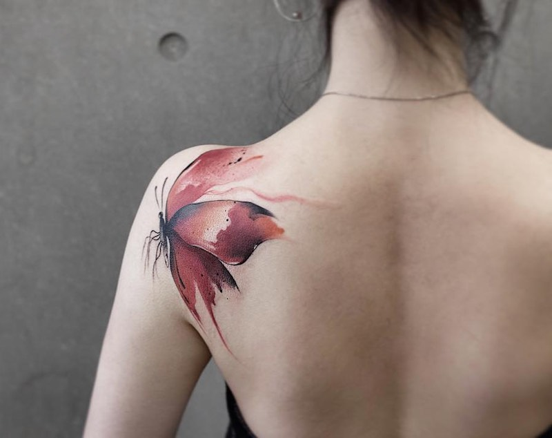 Butterfly Tattoo by Chen Jie