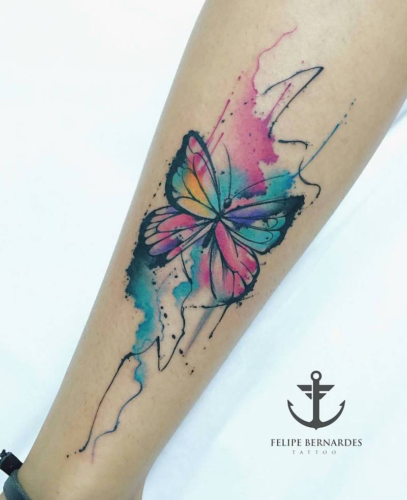 Butterfly Tattoo by Felipe Bernardes