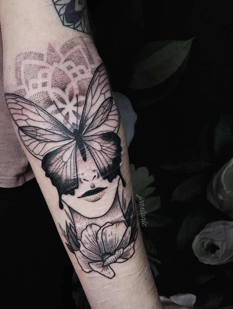 Butterfly Tattoo by Jen Tonic