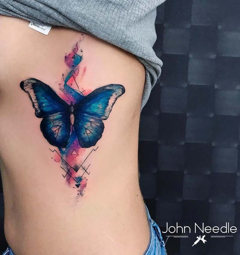 Butterfly Tattoo by John Needle