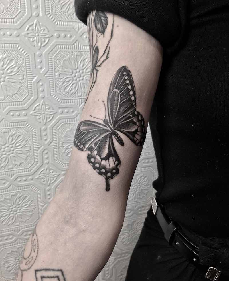 Butterfly Tattoo by Justin Olivier