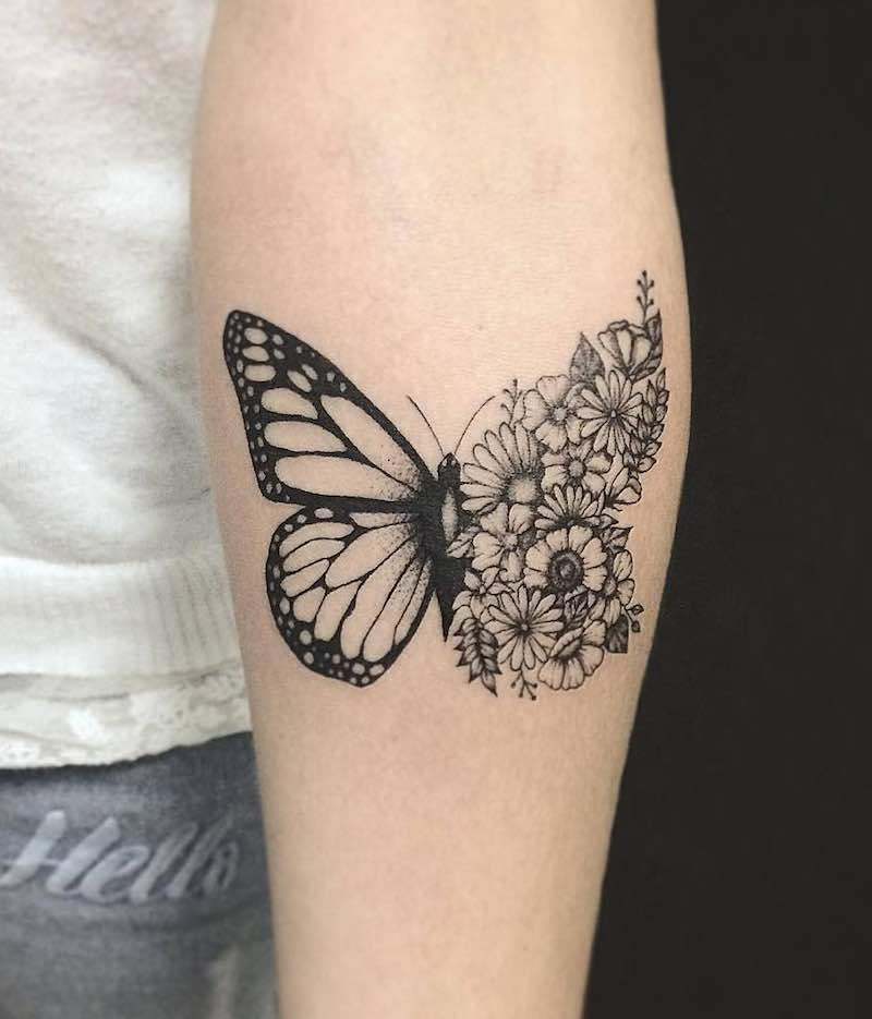 Butterfly Tattoo by Kristie Yuka