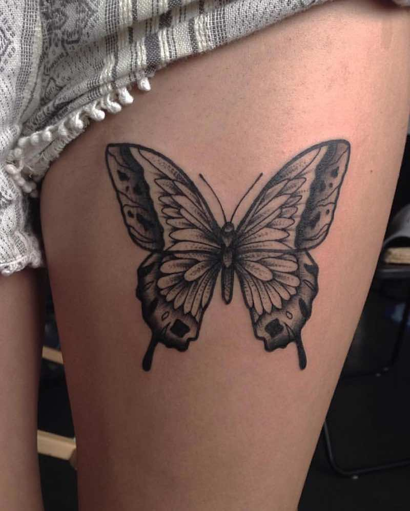 Butterfly Tattoo by Nick Whybrow