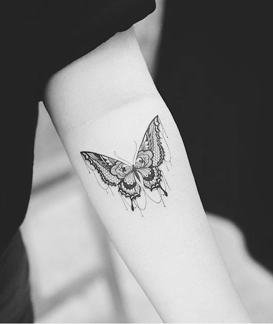 Butterfly Tattoo by Tattooist Grain