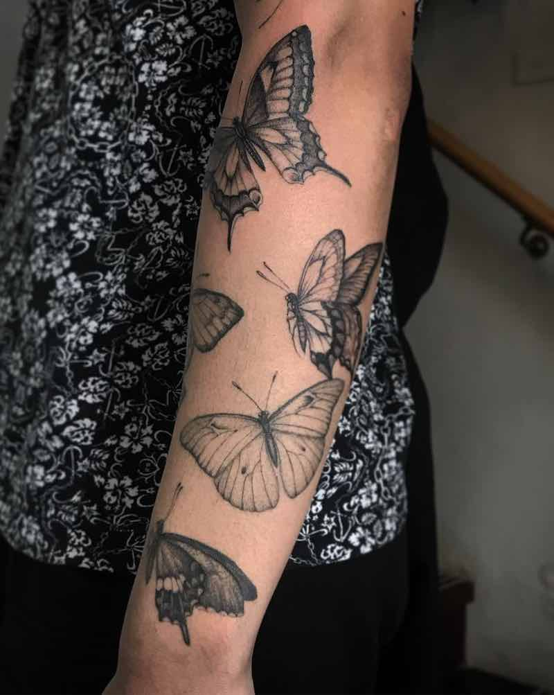 Butterfly Tattoos by Ed Taemets