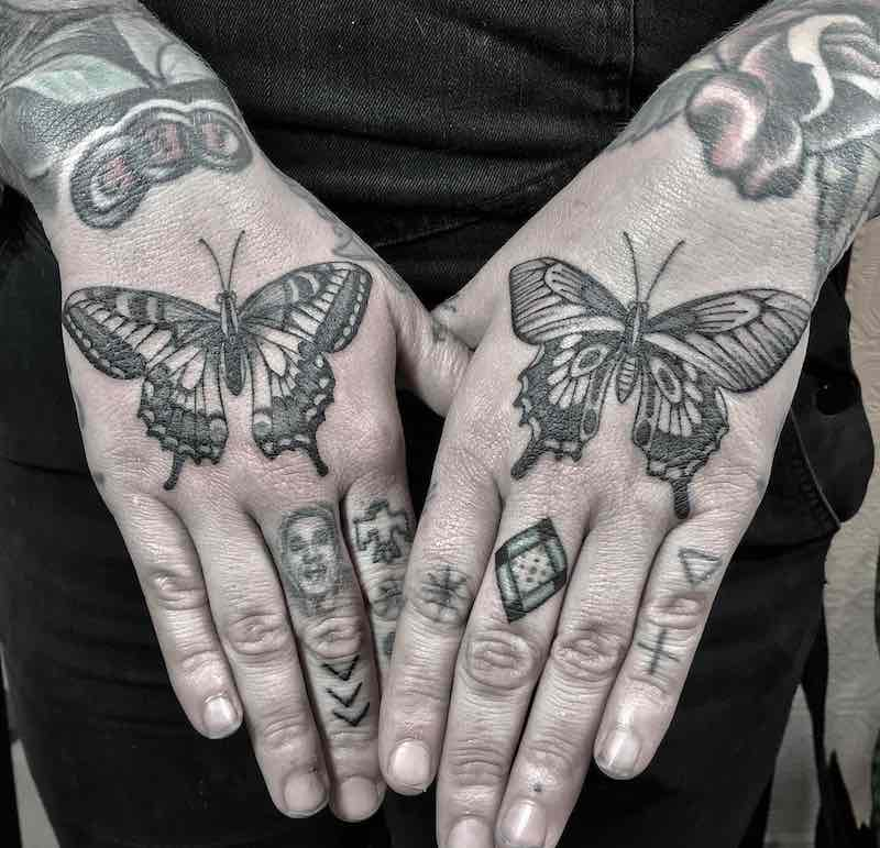 Butterfly Tattoos by Justin Olivier