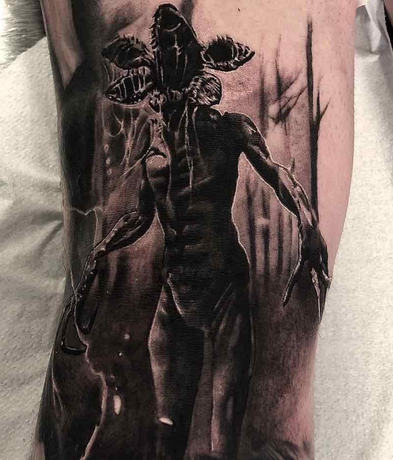 Demogorgon Stranger Things Tattoo by Lazaros Brone