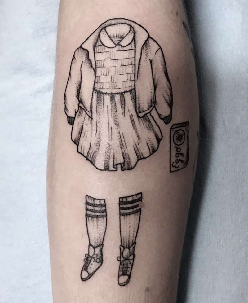 Eleven Stranger Things Tattoo by Sierra Everly