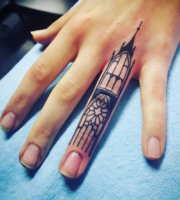 Finger Tattoo by Korynn West