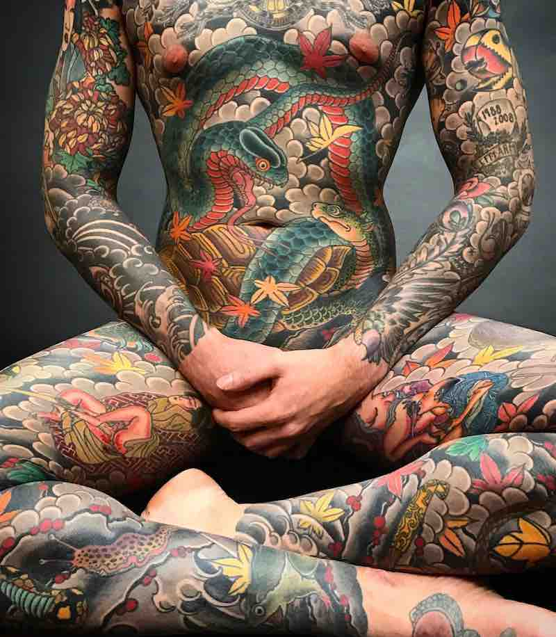 Full Body Suit Japanese Tattoo by Holy Fox