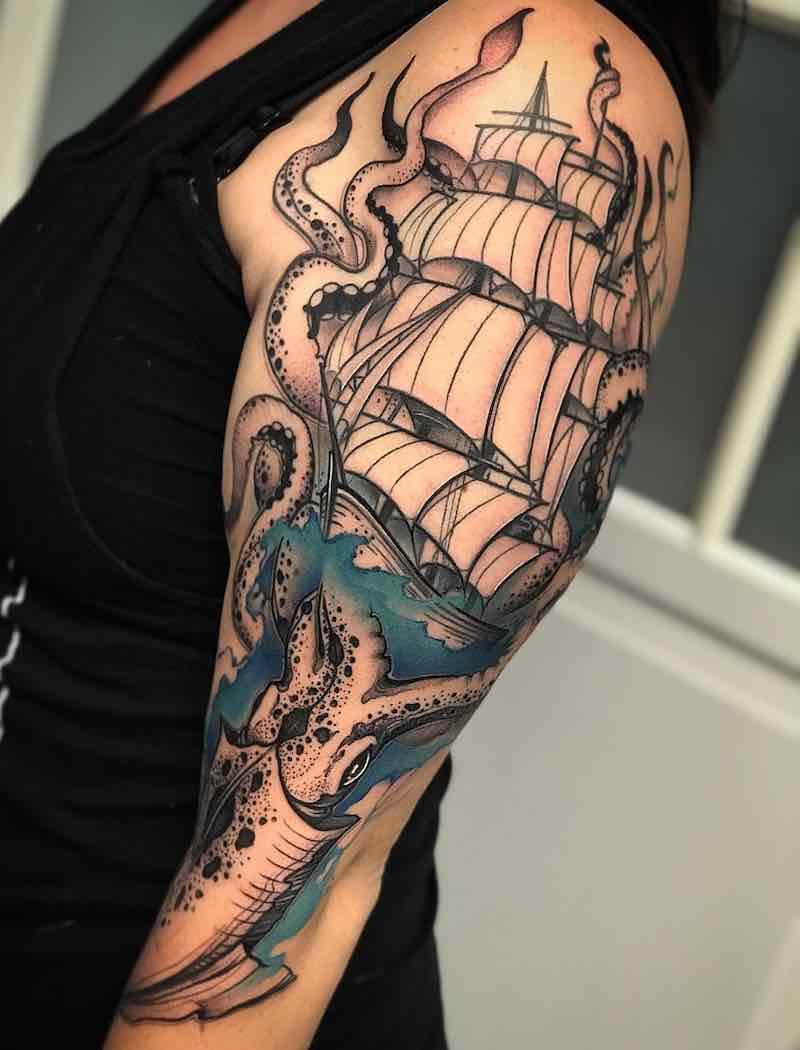 Half Sleeve Tattoo by David Mushaney