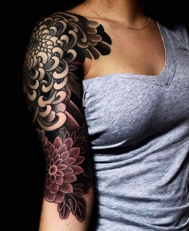 Half Sleeve Tattoo by Nick Alvarez
