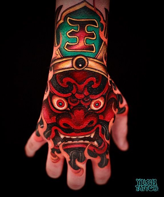 Hand Japanese Tattoo by Yushi