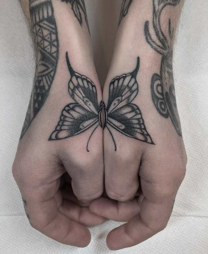 Hands Butterfly Tattoo by Justin Olivier