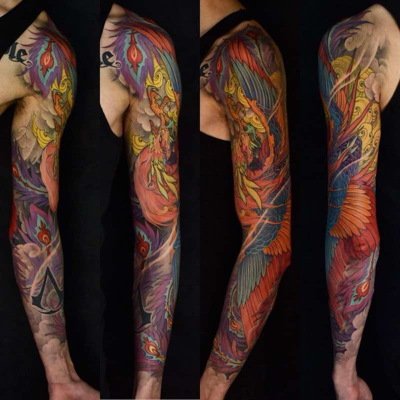 Phoenix Tattoo Sleeve by Tristen Zhang