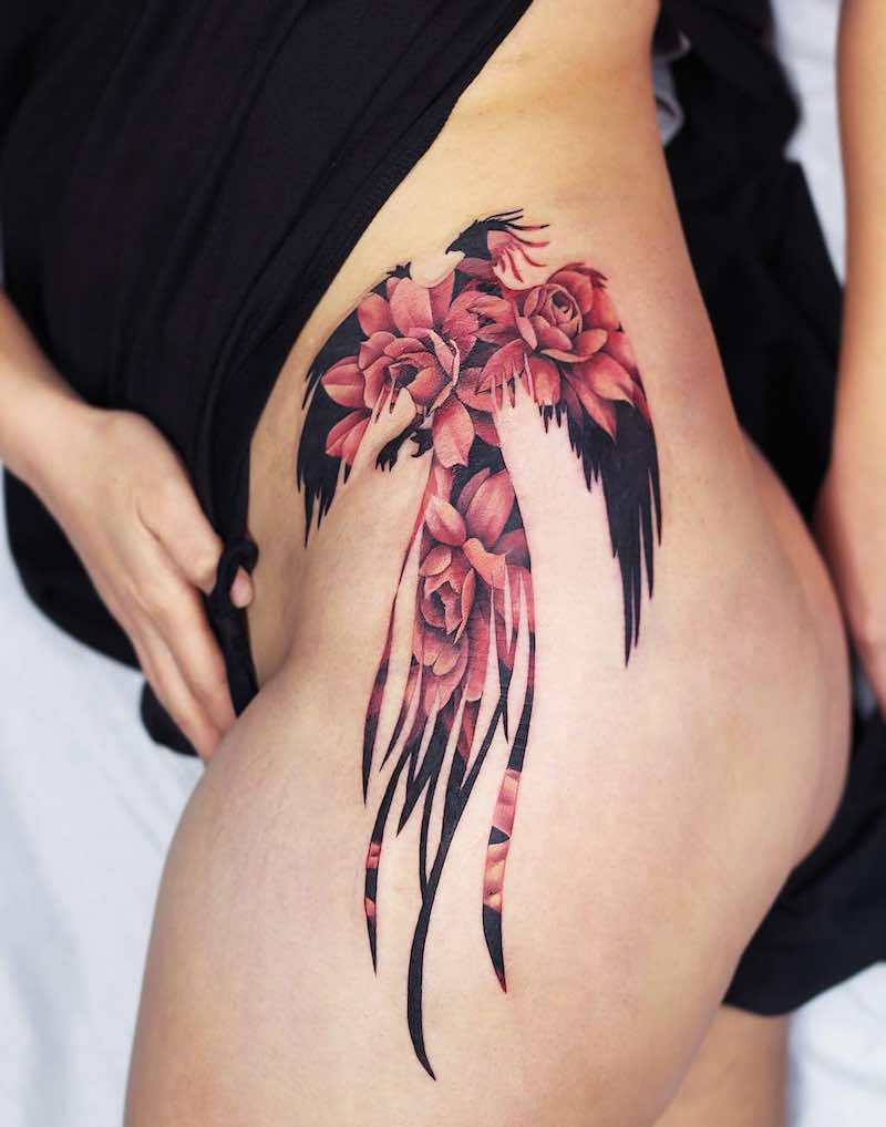 Phoenix Tattoo by Joice Wang
