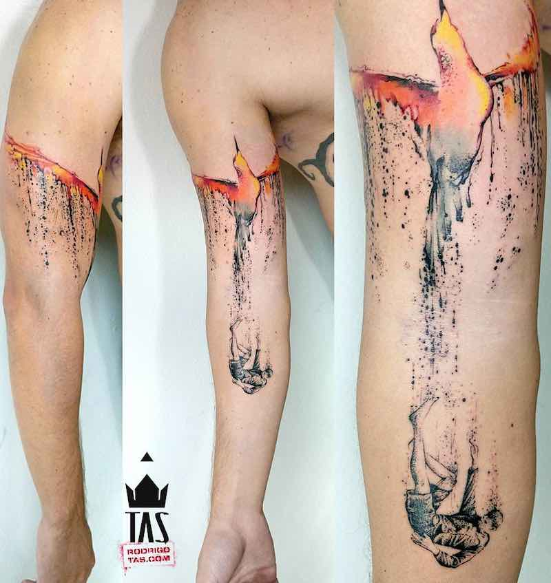 Phoenix Tattoo by Rodrigo Tas