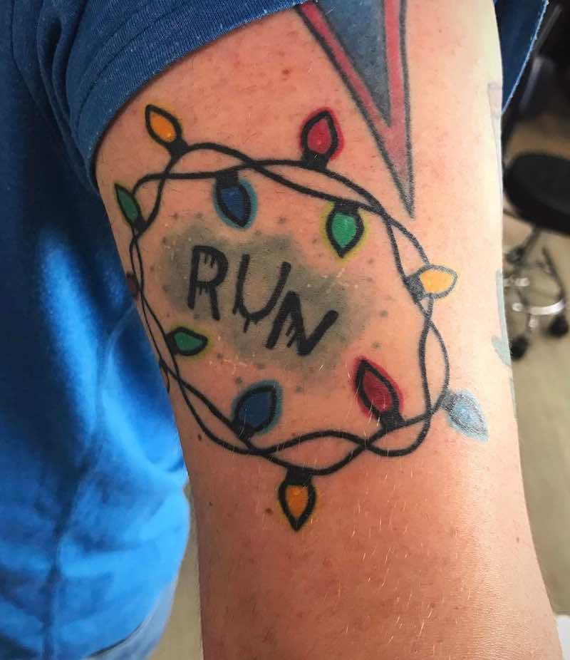 Run Stranger Things Tattoo by Matt Daniels