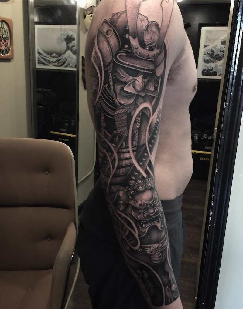 Samurai Japanese Tattoo by Charles Ong